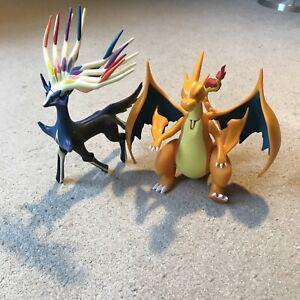Xerneas & Charizard Pokemon Tomy Figure - 8 Inch Nintendo Bundle