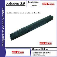 Moquette acustica adesiva COLORE ANTRACITE foglio 140x70cm car audio moquette 3M