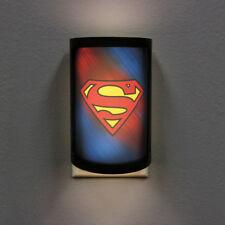 NEW ~ DC SUPERMAN LOGO PLUG-IN LED Night Light Party Animal with Light Sensor