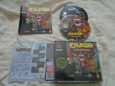Crash Bandicoot PS1 (COMPLETE + DEMO) Sony Playstation platform BIG BOX