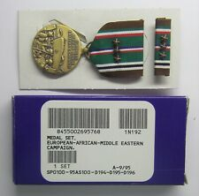 Ww Ii European African Campaign Eame Medal Set in Box with 3 Battle Star