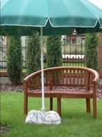 Schirmständer Sonnen Schirm Sockel Fuß Hund Figur Statue Garten Terrasen 227R