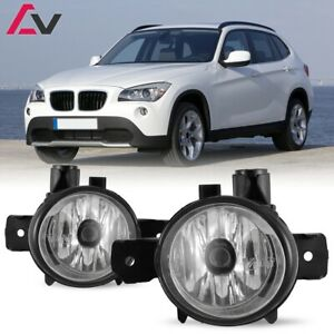 For BMW E84 X1 11-14 Clear Lens Pair Bumper Fog Light Lamp OE Replacement Bulb