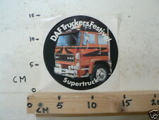 STICKER,DECAL DAF TRUCKERS FESTIVAL 2500 TURBO SUPERTRUCK A NOT 100 % OK A