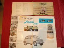 N°4441  / NECKAR NSU dépliant type JAGST 770   / FIAT 500    1962 environ