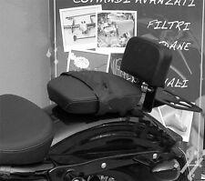 Dos Sissy Bar Bas + Porte-bagages Noir HD Harley Sportster XL Suoer Low