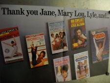 Jane Fonda Retton Alzado Rare Supersized 1986 Promo Ad