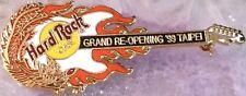 Hard Rock Cafe TAIPEI 1999 GRAND RE-OPENING PIN Dragon Guitar ORANGE - HRC #9615