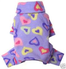 *XS*_Heart Prints Fleece Pajamas_Dog Apparel~Clothes~PJ