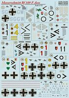 Print Scale 72-254 Decal for Messerschmitt Bf.109 F Aces 1:72