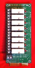 POTTER AND BRUMFIELD 40E1105, 2IO-8 CIRCUIT BOARD c/w 8pcs. IDC-5 RELAY