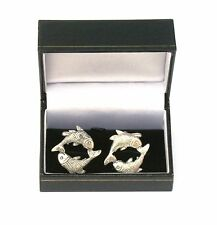 Pisces The Fish Pewter Cufflinks Ideal Mens Astrology Gift Boxed 277
