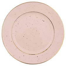 GreenGate DK Side Plate in Pale Pink with Gold Rim