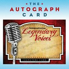 The Autograph Card Blank Signature Card Legendary Voices signed sign auto