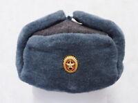 Original Soviet ushanka, Russian fur hat ☆ Cockade Russian Army with a Star ☆