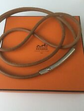 BNWT Hermes cinturón Tostado Cinturón de cuero y plata para mujer
