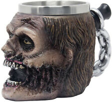 Evil Undead Zombie Head Beer Mug, Stein, Beverage Tankard Or Coffee Cup With