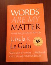 Rare Signed WORDS ARE MY MATTER Ursula Le Guin NEW - FINE/FINE!!
