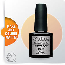 QUTIQUE Gel Nail Polish Colour -MATTE TOP COAT Pack/Kit/Set -LED & UV Cured