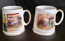 Vintage James Kent Old Foley English China Gold Gilded Mugs In Perfect Condition