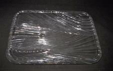 """University of Miami Hurricanes, Large Art Glass Serving Tray, 14 1/2"""" by 10 1/4"""""""