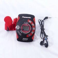 Panasonic Shock Wave Metal Armband Portable AM/FM Radio RF-SW200 + Earbuds