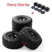 1:10 Short Course Truck tires 17mm Hex Wheel&12mm Hex adapter For TRAXXAS SLASH