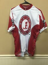 University of Alabama Crimson Tide Cycling Bike Shirt Half Zip Mens Size XL