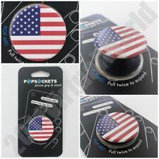 PopSockets Single Phone Grip PopSocket Universal Phone Holder AMERICAN FLAG
