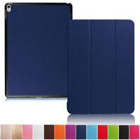 """For iPad 5th Generation 9.7"""" 2017 Luxury Leather Magnetic Smart Stand Case Cover"""