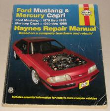 Reparaturanleitung Ford Mustang III / Mercury Capri, Baujahre 1979 - 1993