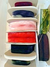 Hanah Silk 2.5� Wide Hand Dyed Silk Bias Velvet Ribbon sold by ThE Yard $8 a Yd