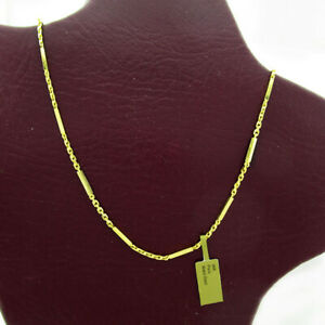 SOLID BAR/LINKS CHAIN 24K YELLOW GOLD *Brand New With Tag * 23 grams