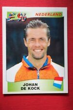 Panini EURO 96 N.82 DE KOCK NEDERLAND New With BLACK back TOPMINT!!