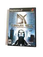 Deus Ex The Conspiracy PS2 Sony PlayStation 2 2002 Complete With Manual
