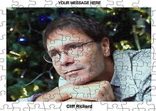 PERSONALISED CLIFF RICHARD  JIGSAW PUZZLE A4 120 PIECE Great Gift Idea