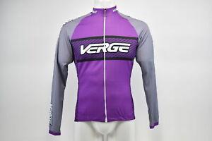 Verge Women's 3XL Classic Sport Long Sleeve Thermal Cycling Jersey Purple/Grey