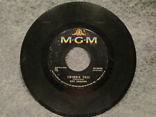 """45 RPM 7"""" Record Roy Orbison Twinkle Toes & Where Is Tomorrow MGM Records K13498"""