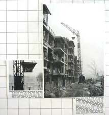 1951 Mobile Tower Crane Being Demonstrated Block Of Flats Denmark Hill