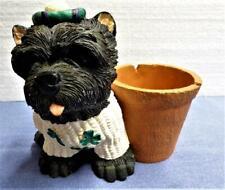 Scottie Dog Planter Shamrock Sweater And Tam Scottish Terrier