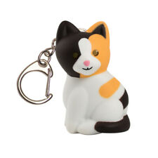 Keygear  Calico Cat  Key Chain with LED Light  Multicolored