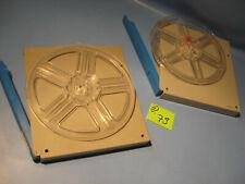 8 mm Film 2 Stück Filmspulen.Leerspule in Filmdosen je 120 Meter D.73.Film Reels