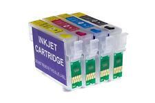 4x CISS Cartridge Set empty for Epson Stylus SX130, SX235, SX235W