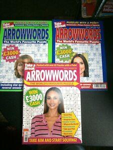 3 Take A Break Arrowwords, April,June,November  (new) 2020