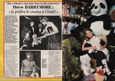 Coupure de presse Clipping 1985 Drew Barrymore  (2 pages)