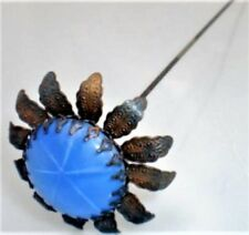 GORGEOUS BLUE SAPHIRE GLASS HATPIN