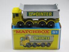 MATCHBOX Regular Wheels 51 AEC Tipper Truck VVM in F1 Box Yellow 'Pointer'
