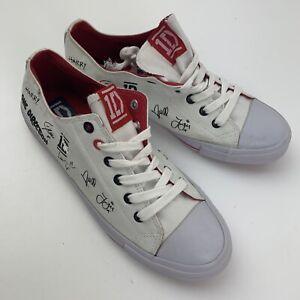 One Direction 1D Autograph Low Sneakers Shoes Women's Size 10