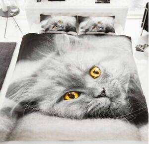 3D PREMIUM DUVET COVER 3D Animal Paint 3D Wild Life Quilt Bedding Set Pillowcase