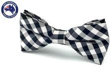 Men's Bowtie Black White Grey Checkered Wedding Black Bow Tie Groomsmen Bow Ties